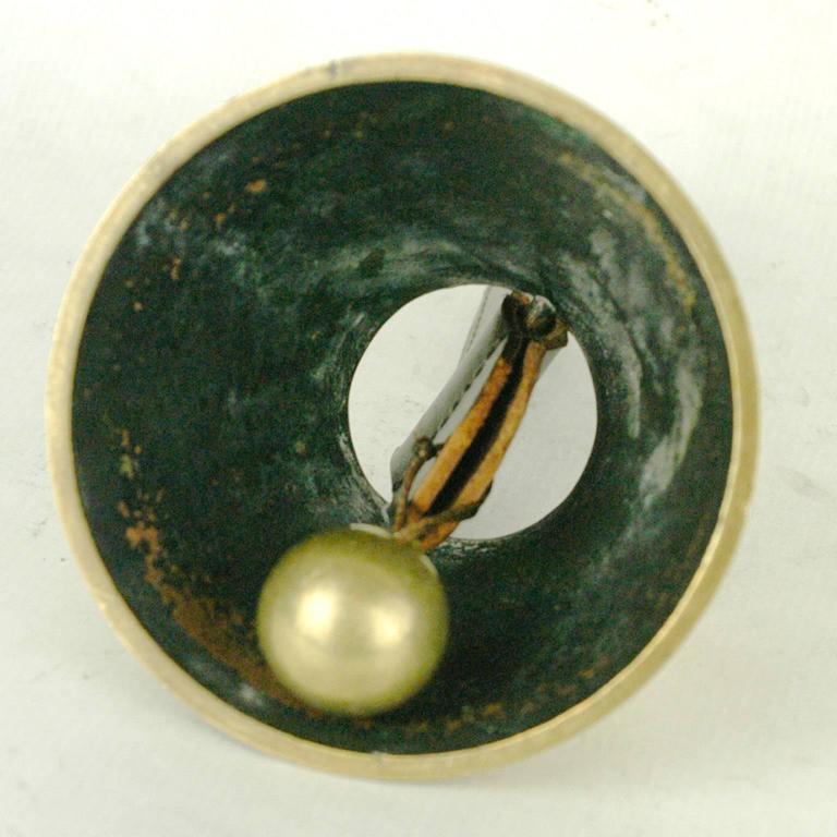 Austrian Brass Table Bell by Carl Auböck For Sale