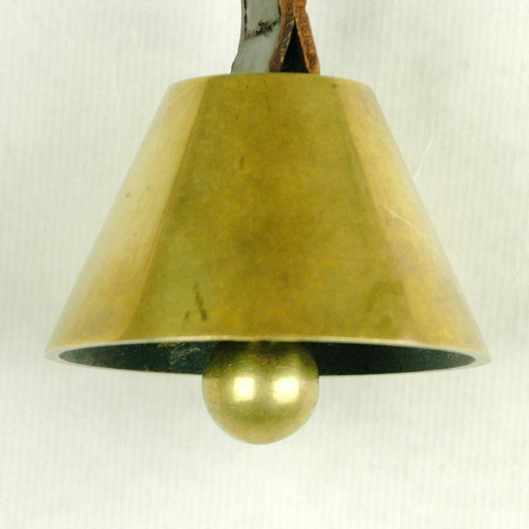 Brass Table Bell by Carl Auböck In Excellent Condition For Sale In Vienna, AT