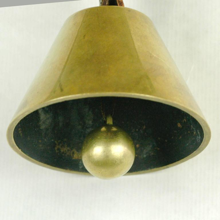 Brass Table Bell by Carl Auböck For Sale 1