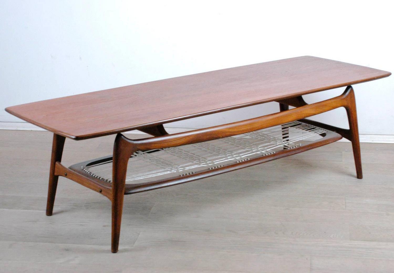 Scandinavian Teak Coffee Table In The Style Of Arne Hovmand Olsen For Sale At 1stdibs