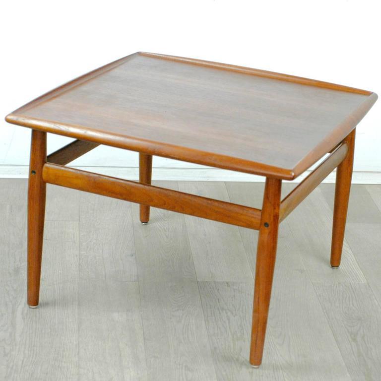 Danish Scandinavian Modern Teak Coffee Table by Grete Jalk For Sale