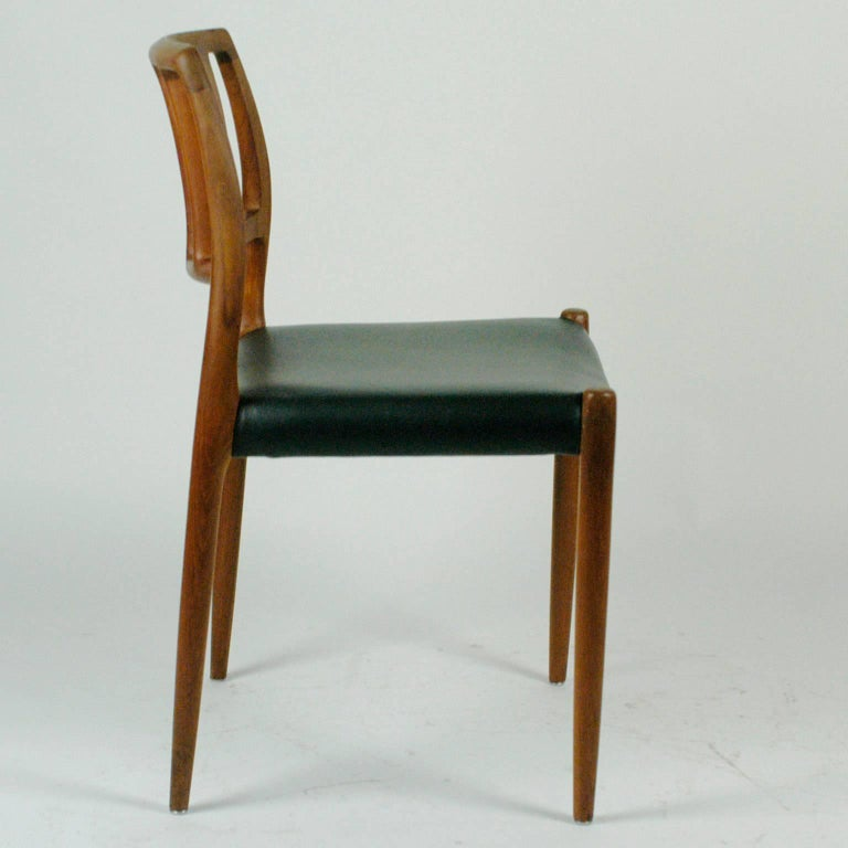 Pair of Two Scandinavian Modern Niels Otto Möller Teak Dining Chairs Mod. 83 For Sale 1