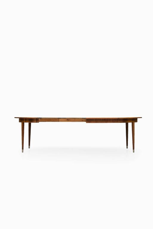 Rare Dining Table designed by Agner Christoffersen in Denmark In Excellent Condition For Sale In Malmo, SE