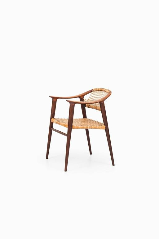 Rolf Rastad and Adolf Relling Armchair Model Bambi by Gustav Bahus in Norway In Good Condition For Sale In Malmo, SE