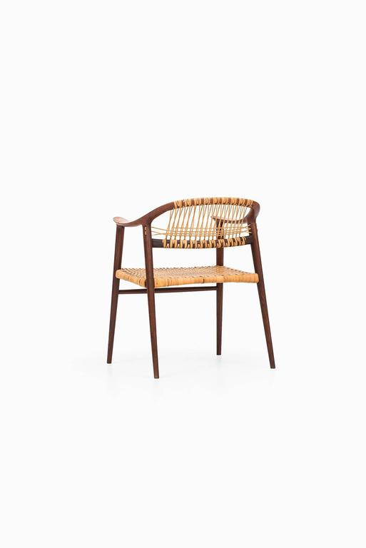 Mid-20th Century Rolf Rastad and Adolf Relling Armchair Model Bambi by Gustav Bahus in Norway For Sale