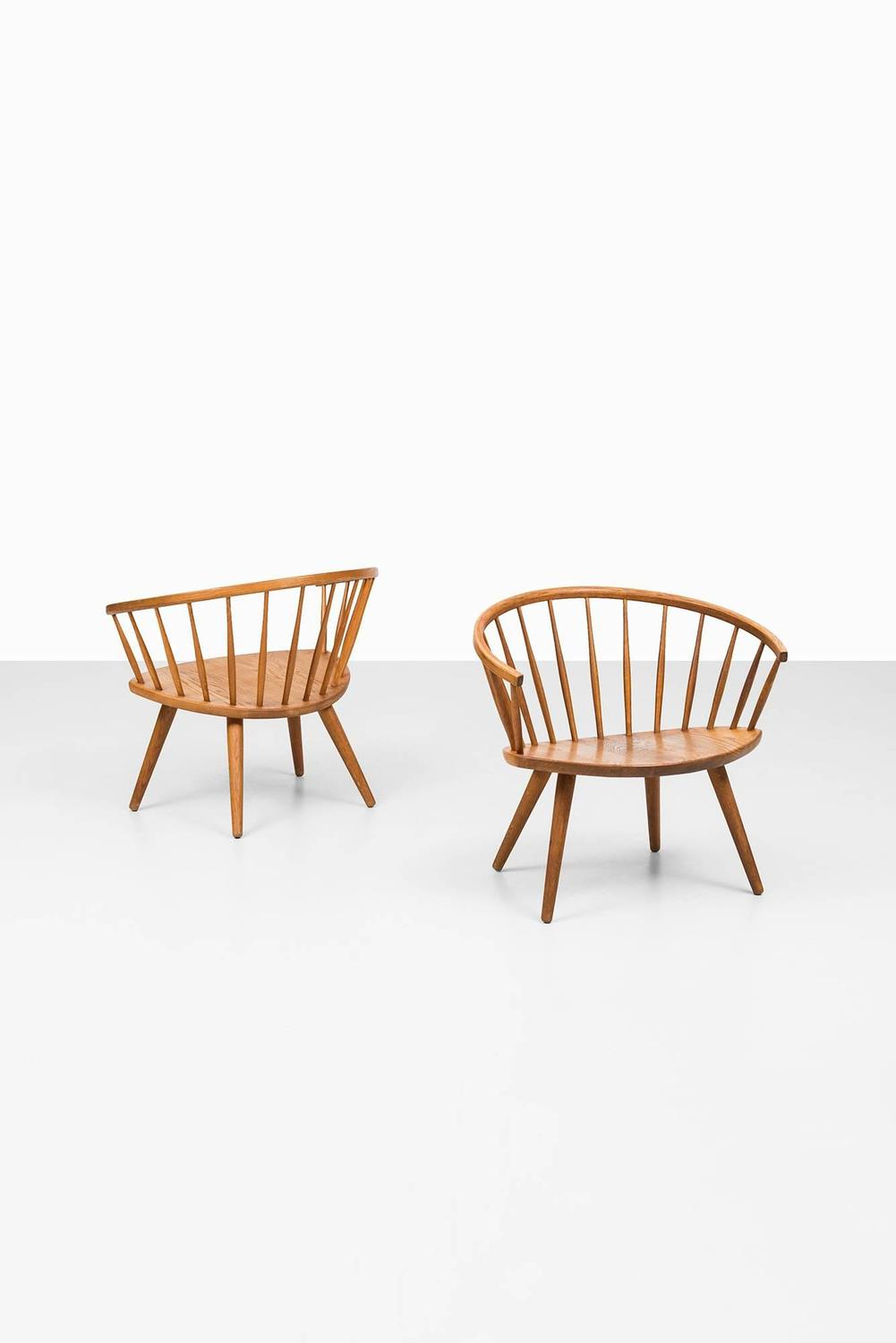 Yngve Ekström Easy Chairs Model Arka by Stolab in Sweden at 1stdibs