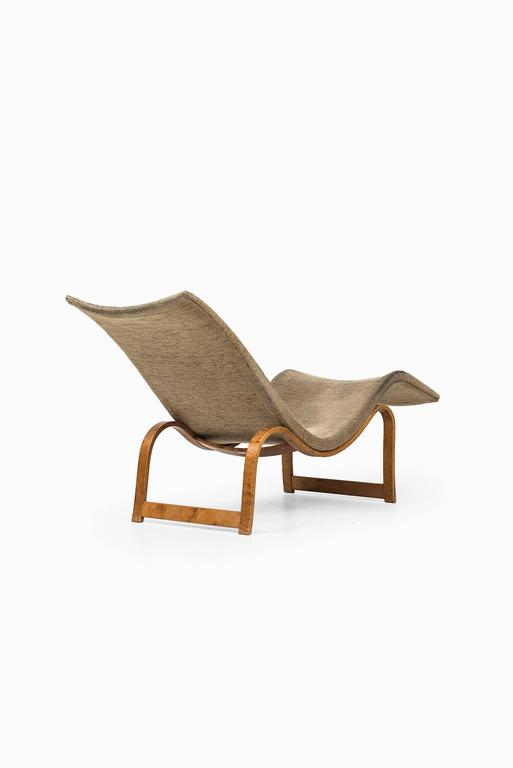 Scandinavian Modern Bruno Mathsson Lounge Chair Model 36 by Karl Mathsson in Sweden For Sale