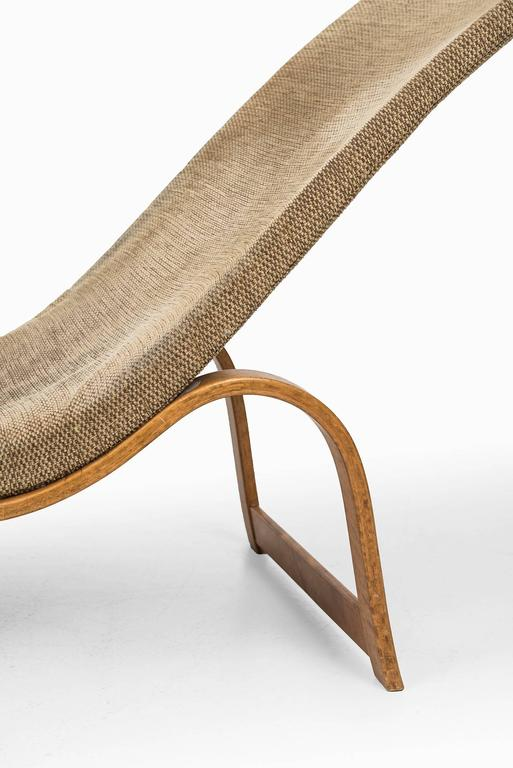 Swedish Bruno Mathsson Lounge Chair Model 36 by Karl Mathsson in Sweden For Sale