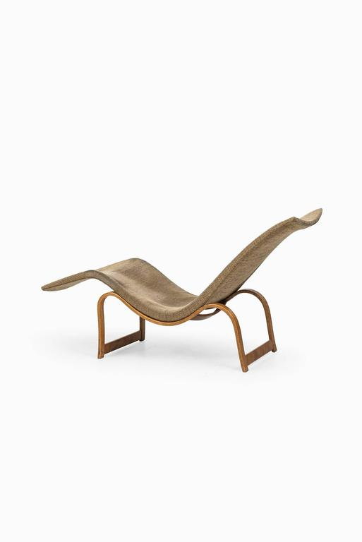 Birch Bruno Mathsson Lounge Chair Model 36 by Karl Mathsson in Sweden For Sale