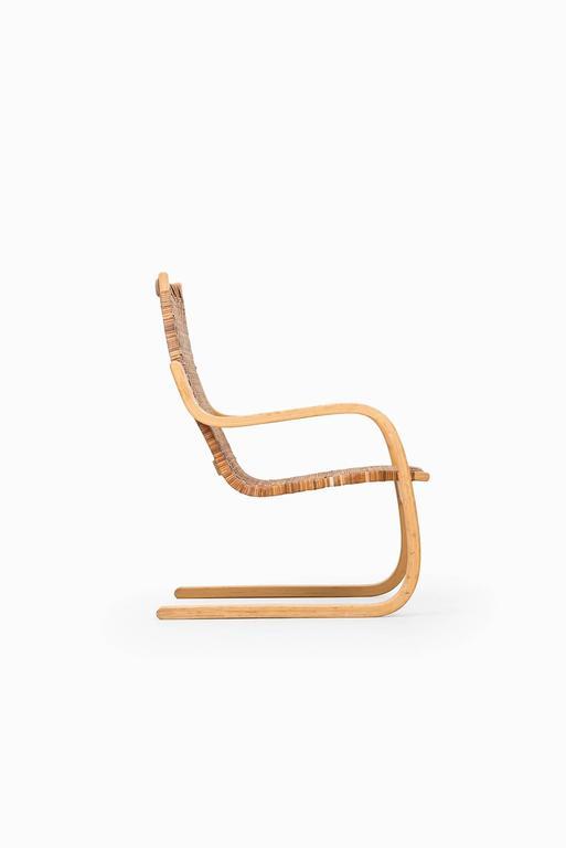 Alvar Aalto Easy Chair Model 406 By Artek In Finland For