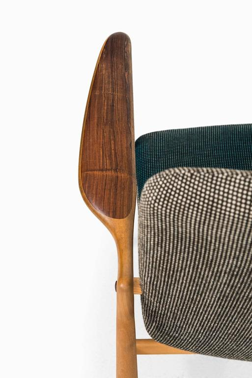 Mid-20th Century Rare Easy Chair Designed by Finn Juhl and Produced by Bovirke in Denmark For Sale