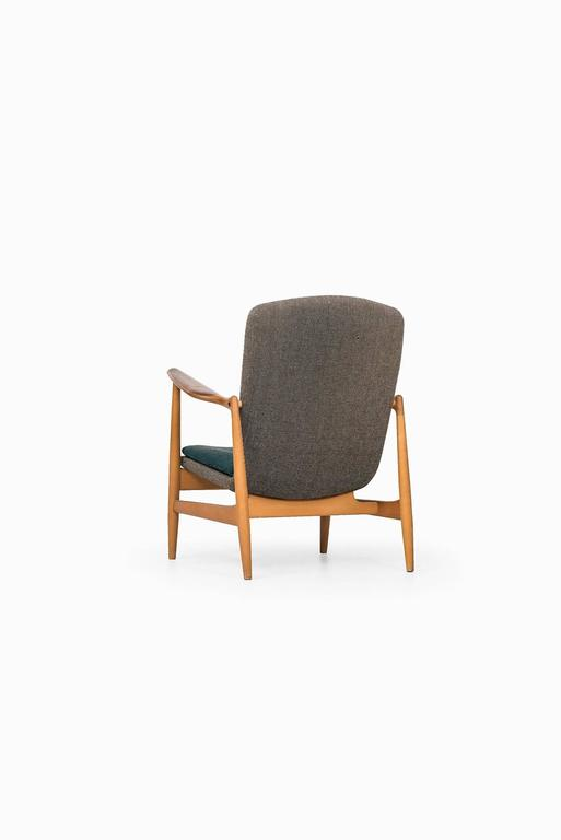 Danish Rare Easy Chair Designed by Finn Juhl and Produced by Bovirke in Denmark For Sale