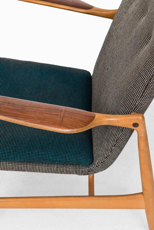 Rare Easy Chair Designed by Finn Juhl and Produced by Bovirke in Denmark In Excellent Condition For Sale In Malmo, SE