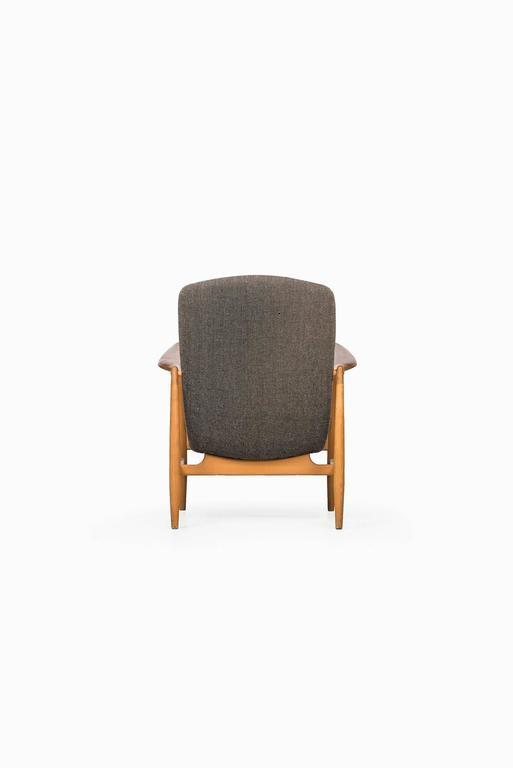 Beech Rare Easy Chair Designed by Finn Juhl and Produced by Bovirke in Denmark For Sale