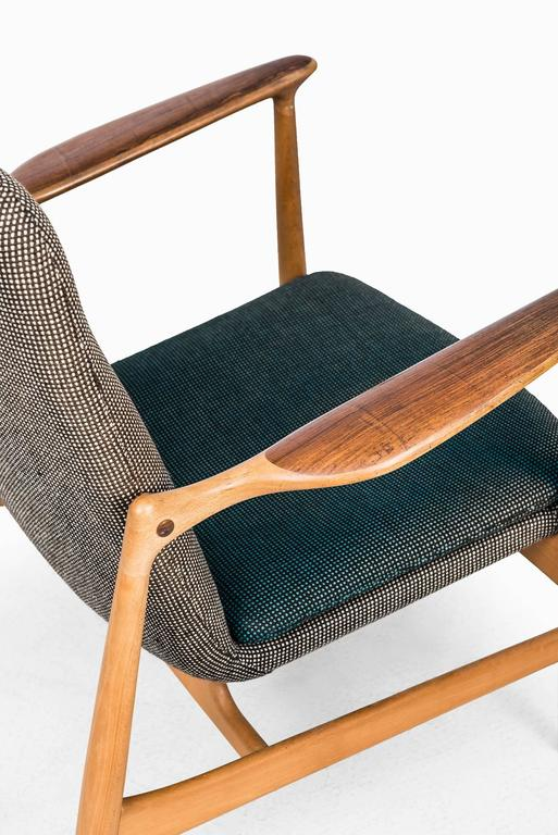 Rare Easy Chair Designed by Finn Juhl and Produced by Bovirke in Denmark For Sale 1