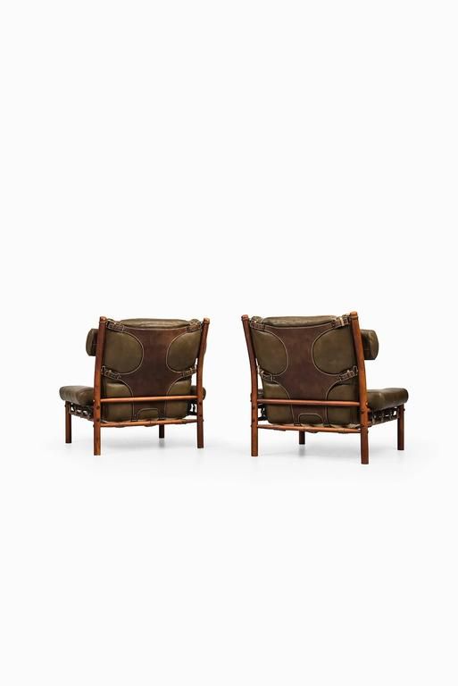Mid-20th Century Arne Norell Easy Chairs Model Inca by Arne Norell AB in Sweden For Sale