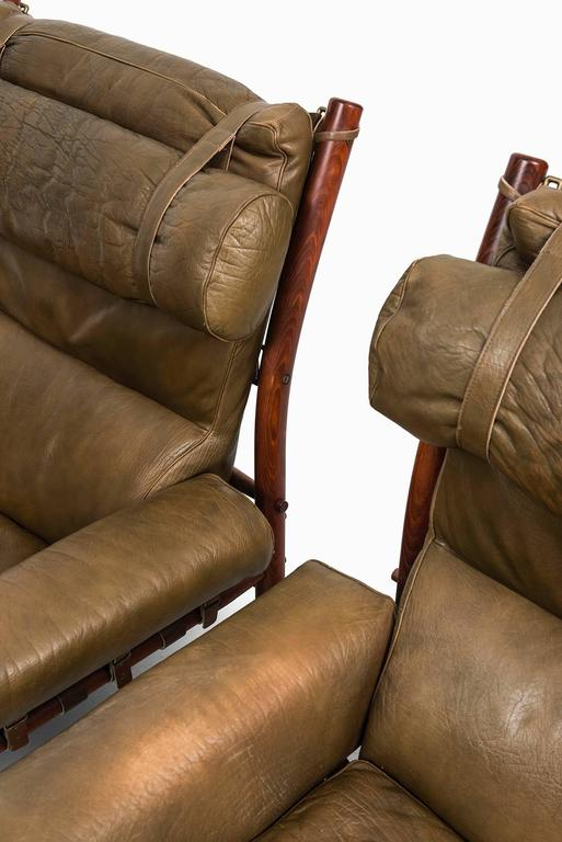 Arne Norell Easy Chairs Model Inca by Arne Norell AB in Sweden In Excellent Condition For Sale In Malmo, SE