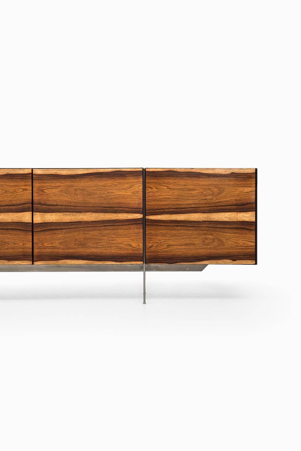 Contemporary Sideboard In Rosewood And Steel Produced In