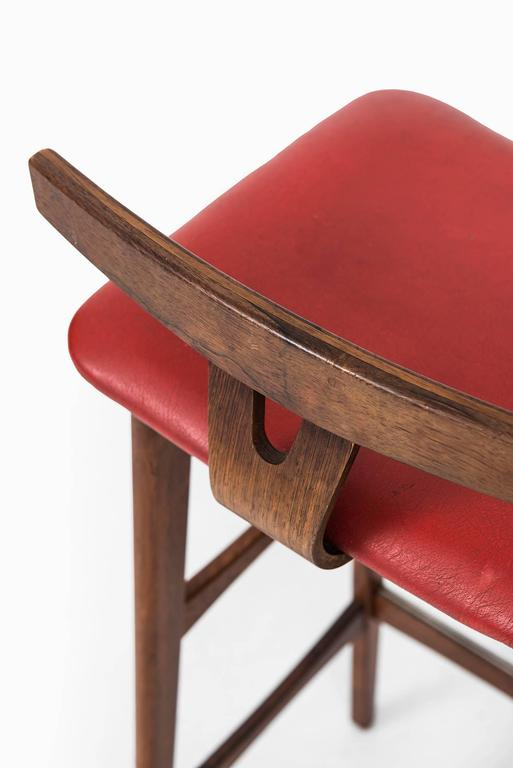 Erik Buck Bar Stools Produced By Dyrlund In Denmark At 1stdibs