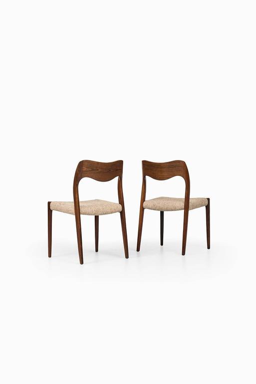 Scandinavian Modern Niels O. Møller Dining Chairs Model 71 by J.L Møllers Møbelfabrik in Denmark
