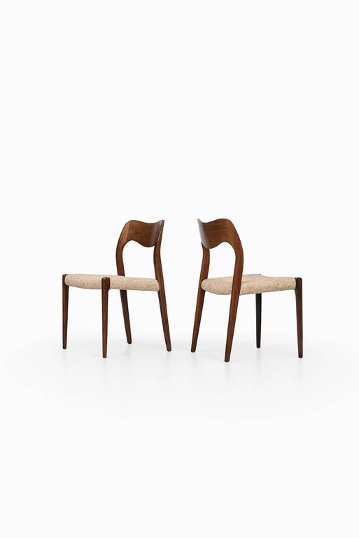 Niels O. Møller Dining Chairs Model 71 by J.L Møllers Møbelfabrik in Denmark 2