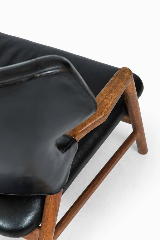 Leather Magnus Stephensen Sofa by A.J. Iversen in Denmark For Sale