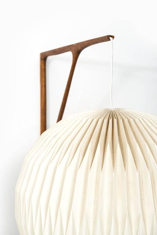 Sculptural Wall Lamp in Teak with Lamp Shade by Le Klint For Sale at ...