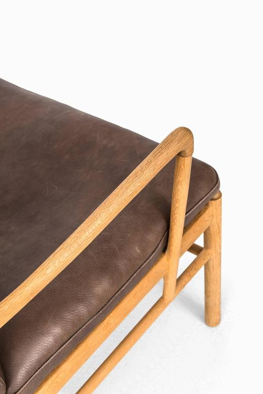 Danish Ole Wanscher Colonial Easy Chairs by P.J. Furniture in Denmark For Sale