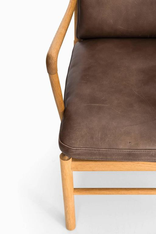 A pair of easy chairs model PJ-149, colonial designed by Ole Wanscher. Produced by P. J. Furniture in Denmark.