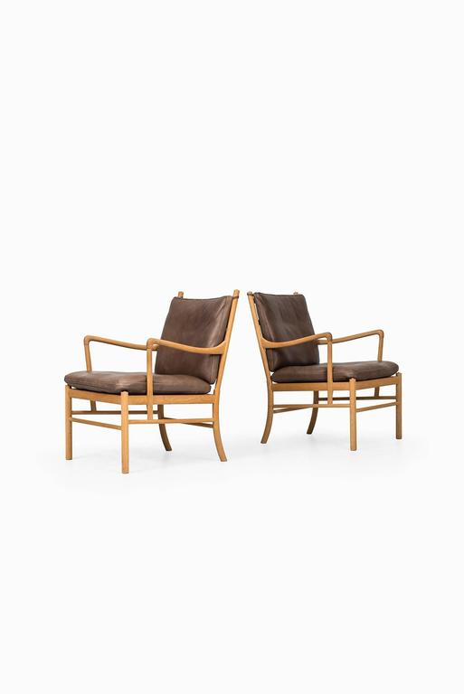 Ole Wanscher Colonial Easy Chairs By P.J. Furniture In Denmark 3