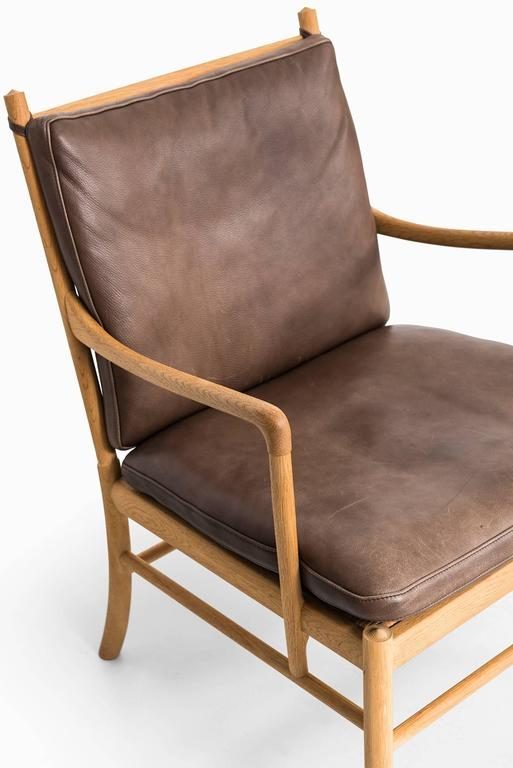 Mid-20th Century Ole Wanscher Colonial Easy Chairs by P.J. Furniture in Denmark For Sale