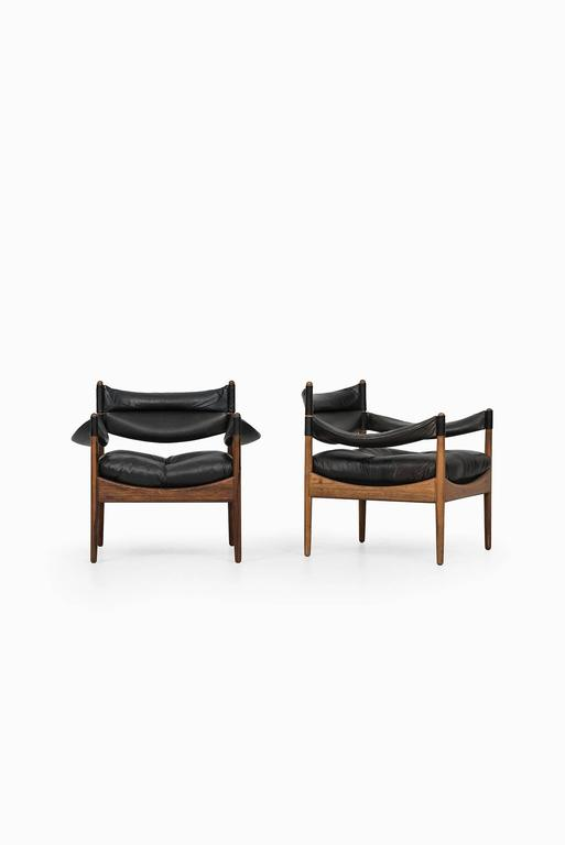 Danish Kristian Solmer Vedel Easy Chairs Model Modus by Søren Willadsen in Denmark For Sale