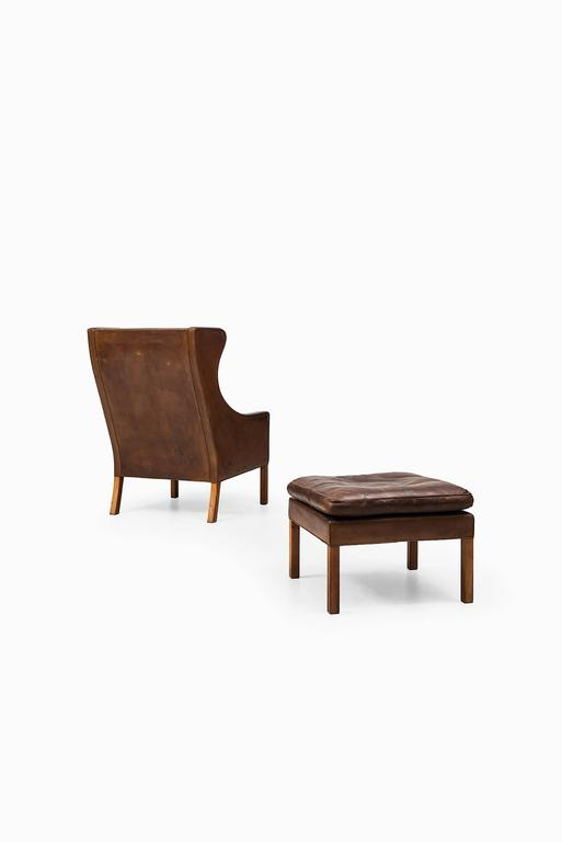Børge Mogensen Wingback Chair Model 2204 with Stool Model 2202 4