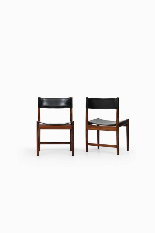 Rare set of eight dining chairs designed by Kurt Ostervig. Produced by Sibast in Denmark.