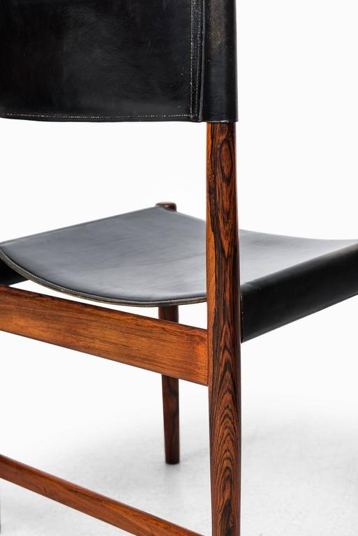 Leather Kurt Ostervig Dining Chairs by Sibast in Denmark For Sale