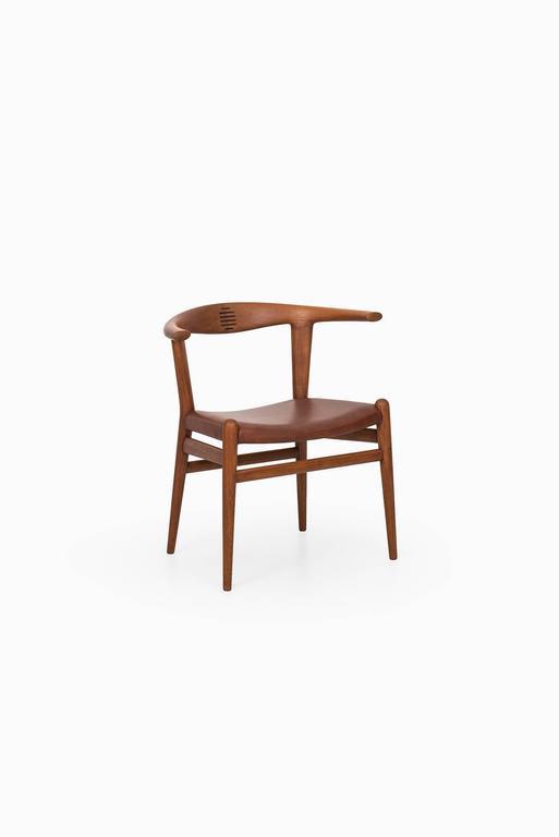 Danish Hans Wegner Bullhorn Chair Model JH518 by Johannes Hansen in Denmark