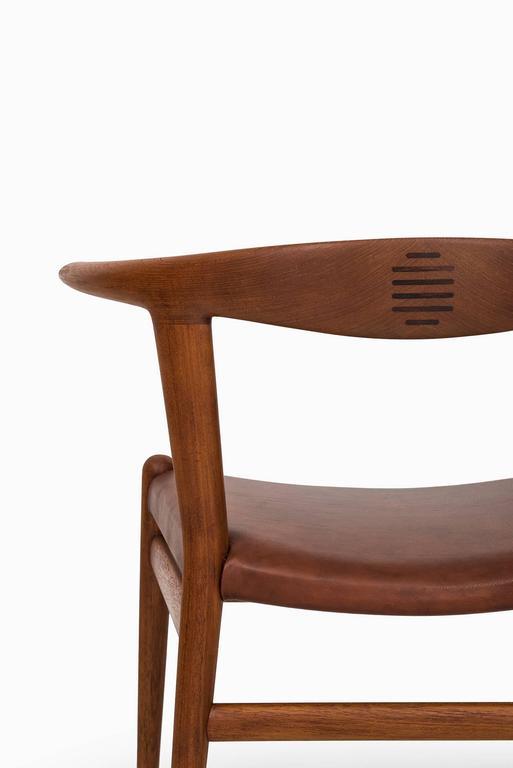 Rosewood Hans Wegner Bullhorn Chair Model JH518 by Johannes Hansen in Denmark