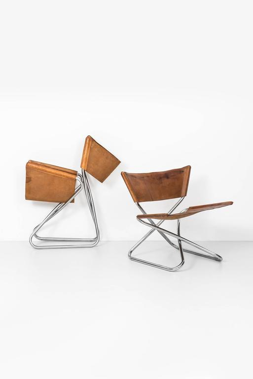Scandinavian Modern Erik Magnussen Z Easy Chairs by Torben Ørskov in Denmark For Sale