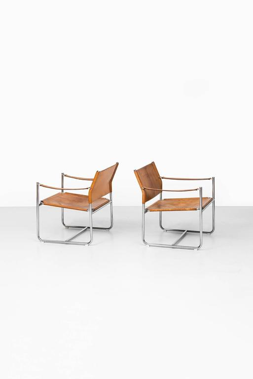 Pair of easy chairs model Amiral designed by Karin Mobring. Produced by Ikea in Sweden.