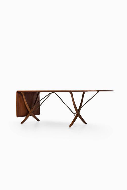 Scandinavian Modern Hans Wegner Dining Table Model AT-304 by Andreas Tuck in Denmark For Sale