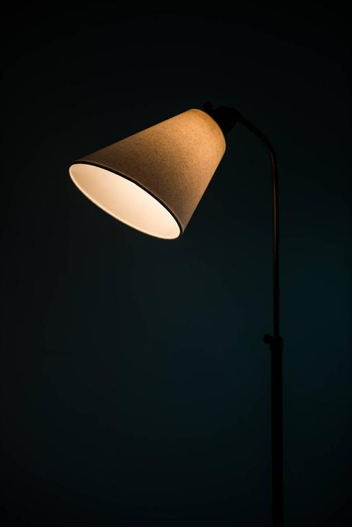 Swedish Hans Bergström Floor Lamp Model 545 by Ateljé Lyktan in Sweden For Sale