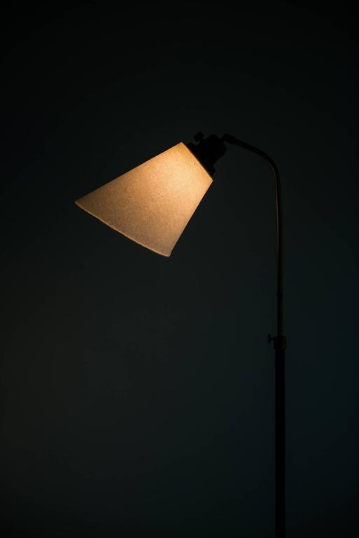 Hans Bergström Floor Lamp Model 545 by Ateljé Lyktan in Sweden In Excellent Condition For Sale In Malmo, SE