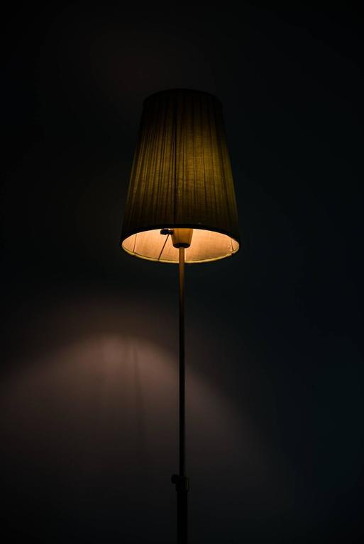 Mid-20th Century Hans Bergström Floor Lamp Model 544 by Ateljé Lyktan in Sweden For Sale