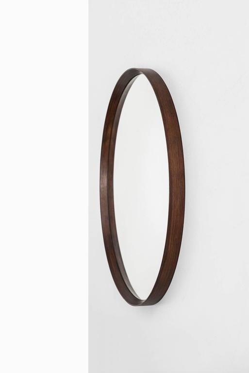 Large round mirror in rosewood for sale at 1stdibs for Large round mirrors for sale