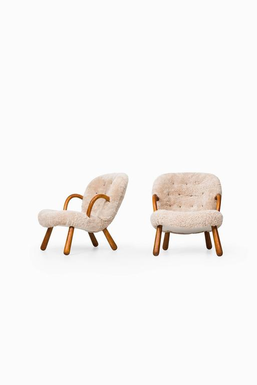 Philip Arctander Clam Easy Chairs by Nordisk Stål & Møbel Central in Denmark 5