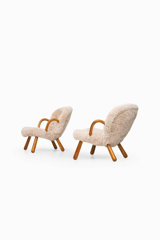 Philip Arctander Clam Easy Chairs by Nordisk Stål & Møbel Central in Denmark 6