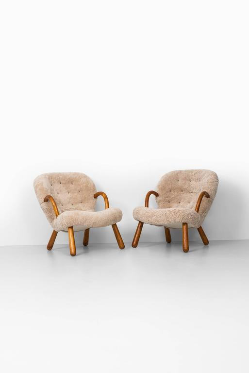 Philip Arctander Clam Easy Chairs by Nordisk Stål & Møbel Central in Denmark 2