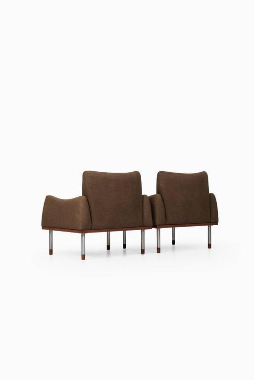 Mid-20th Century Pair of Easy Chairs by Nanna Ditzel & Illum Wikkelsø For Sale