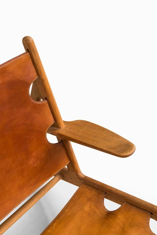Børge Mogensen Hunting Easy Chairs by Fredericia Stolefabrik in Denmark In Excellent Condition For Sale In Malmo, SE