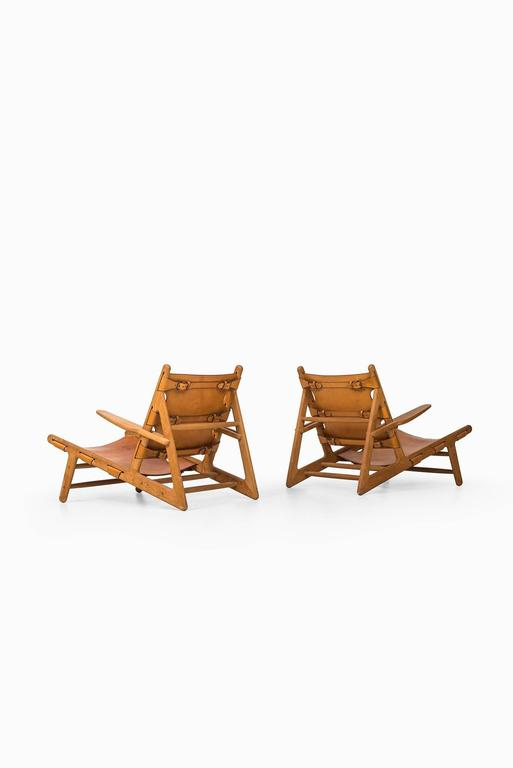Danish Børge Mogensen Hunting Easy Chairs by Fredericia Stolefabrik in Denmark For Sale